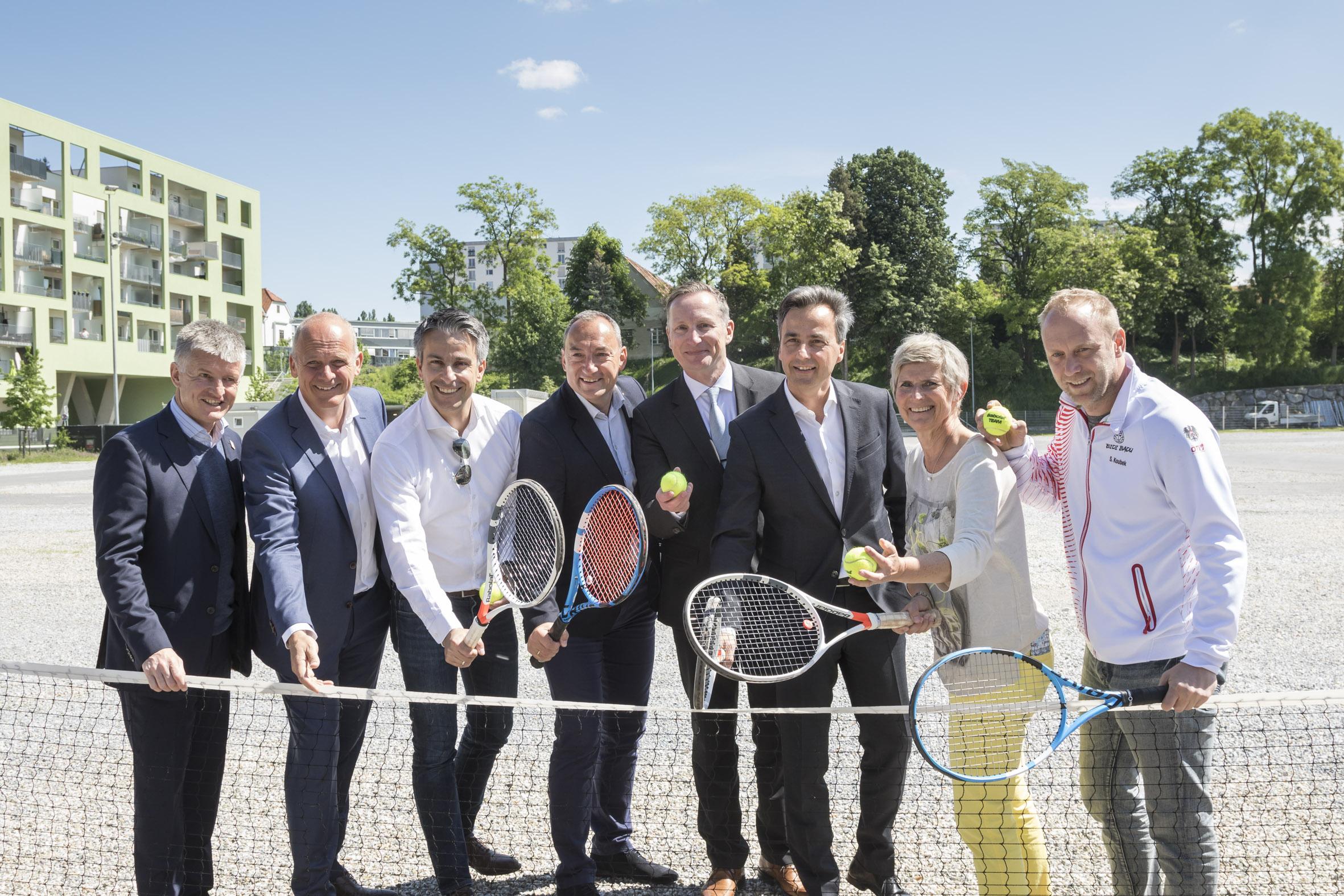 Freuen Sich Dass Der Tennis Daviscup Im Herbst In Graz Stattfindet Thomas Schweda