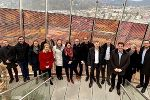Die Stadtentwicklungs-Fachleute aus Wien und Graz tauschten am Science Tower der Smart City Graz Erfahrungen und Strategien aus. © Stadtbaudirektion Graz