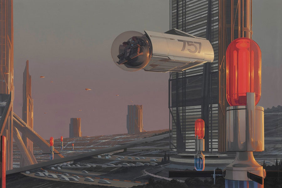 Future Urban Architecture, Syd Mead, 1979 © Syd Mead
